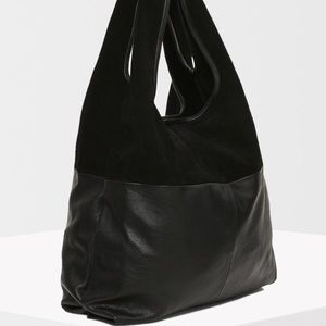 Top shop leather slouch bag